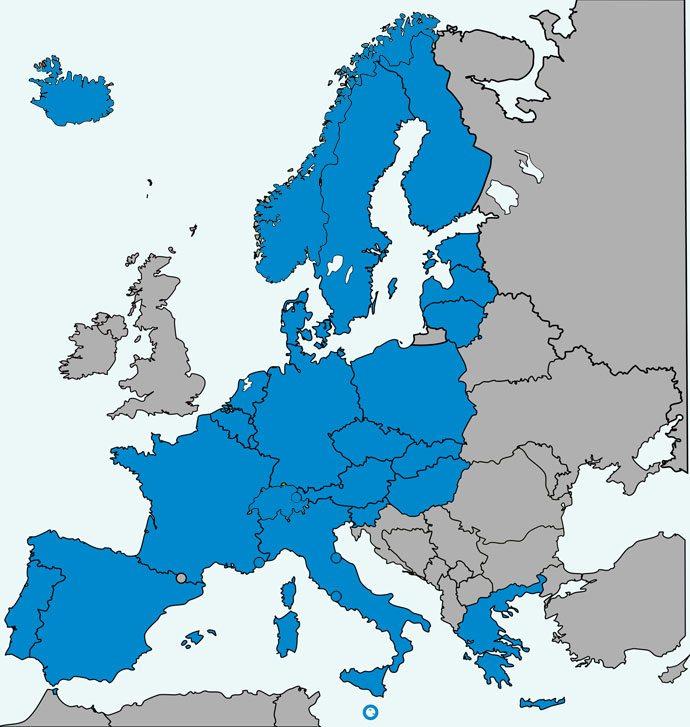 Aeroporto de Praga: Espaço Schengen