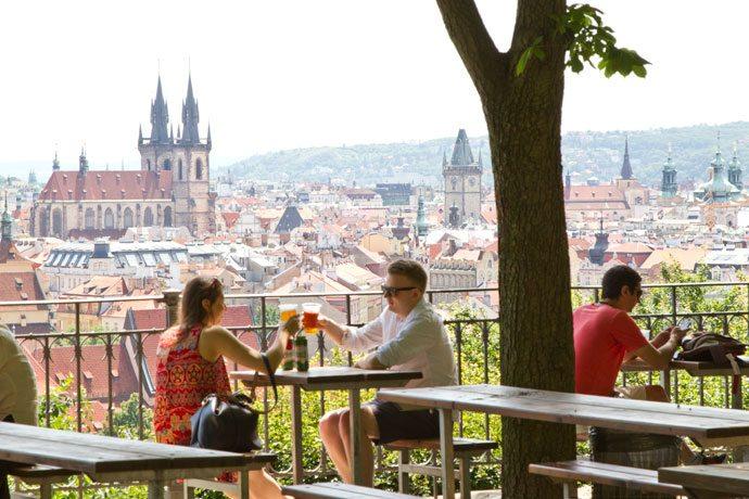 Beer Garden no Letná, em Praga