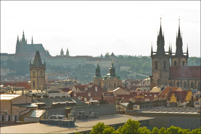 Vista da Torre Jindrisská, em Praga