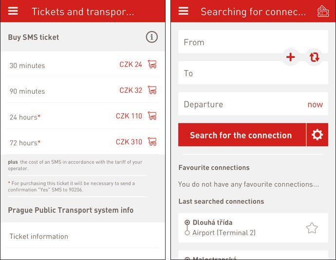 DPP INFO, o aplicativo da empresa de transporte público de Praga