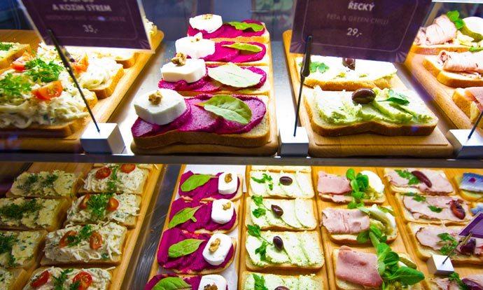 Cozinha tcheca: Chlebicek, sanduiche aberto de Praga