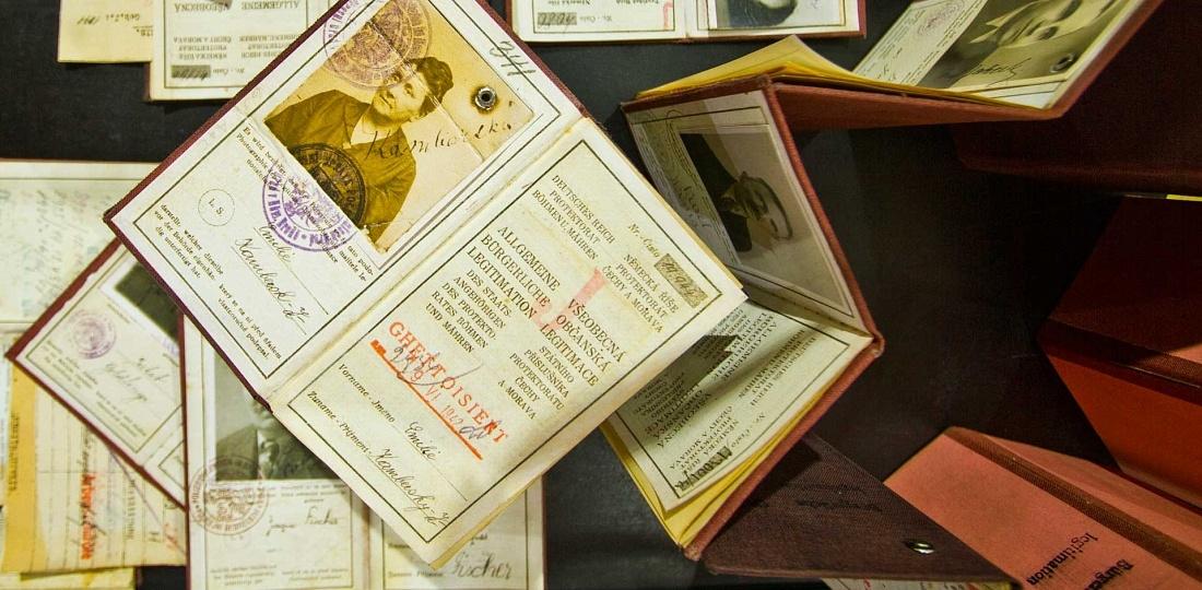Documentos de pessoas que viveram em Terezín, Republica Tcheca