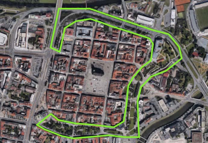 Mapa do centro de Pilsen / Plzen