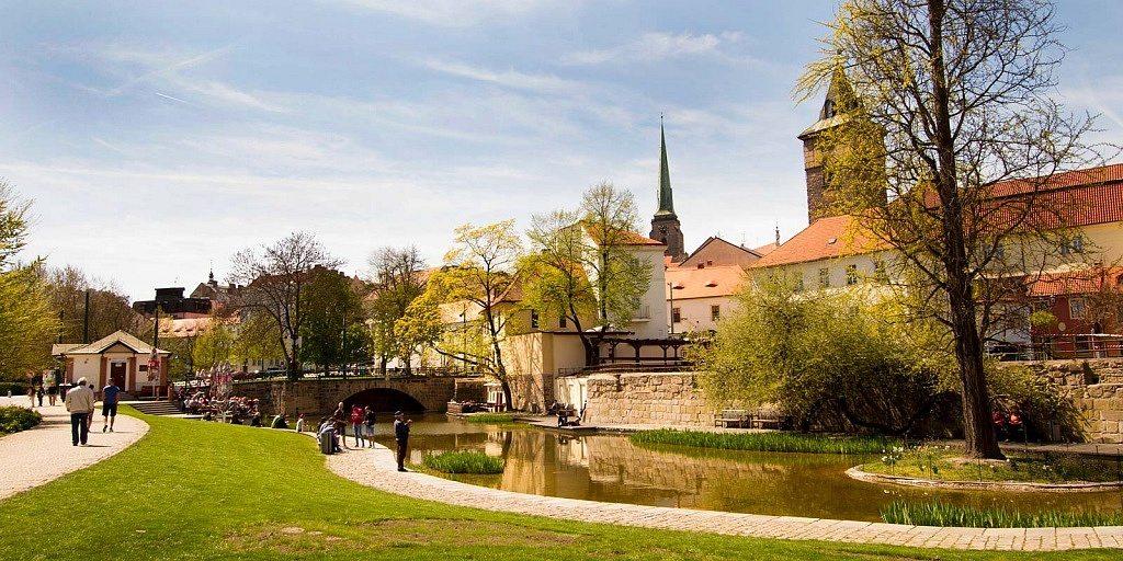 Mlýnská strouha, em Pilsen (Plzen), Republica Tcheca
