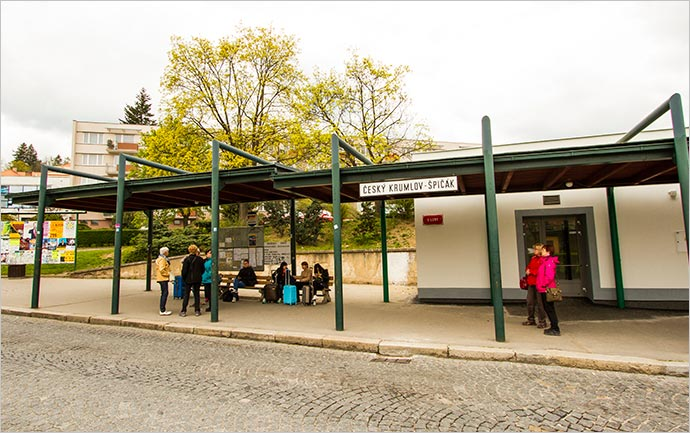 Estação rodoviária Český Krumlov, Špičák
