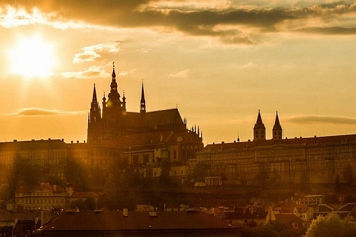 Castelo de Praga no por do sol