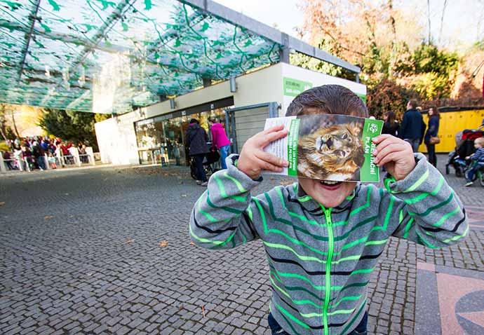 Praga com crianças: entrada do zoo
