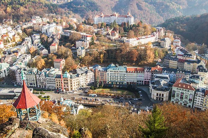 Karlovy Vary vista de cima